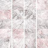 murando - PURO TAPETE - Realistische Marmoroptik Tapete ohne Rapport und Versatz 10m Vlies Tapetenrolle Wandtapete modern design Fototapete - Marmor f-A-0198-j-d