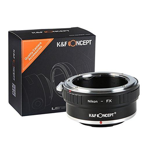K&F Concept NIK-FX Anello Adattatore per Obiettivo di Nikon Macro a Fotocamera di Fujifilm X Mount Fuji X-Pro1 X-M1 X-E1 X-E2 M42 X-T1