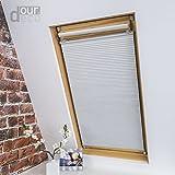 ourdeco Universal Dachfenster Thermo-Wabenplissee/lichtundurchlässig, verdunkelnd, Thermo- und Hitzeschutz/Klemmen=Montage ohne Bohren=Smartfix=Klemmfix=Easy-to-fix