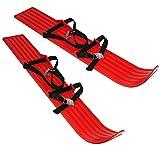 Kinderski rot - universal für Kinder + Erwachsene - Gr. 23 bis 39 - passend für ALLE - Kinder Ski Schi Miniski - verstellbare Bindungen - Länge der Ski 65 cm / 70