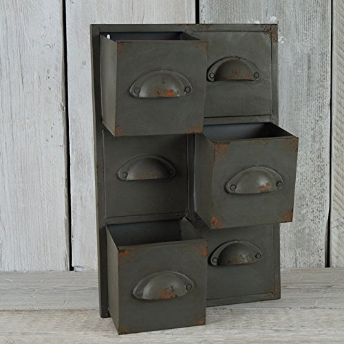 Homes On Trend Vintage Metall Industrie Schublade Herb Pflanzer Topf schicke Schrank Storage Wall Unit