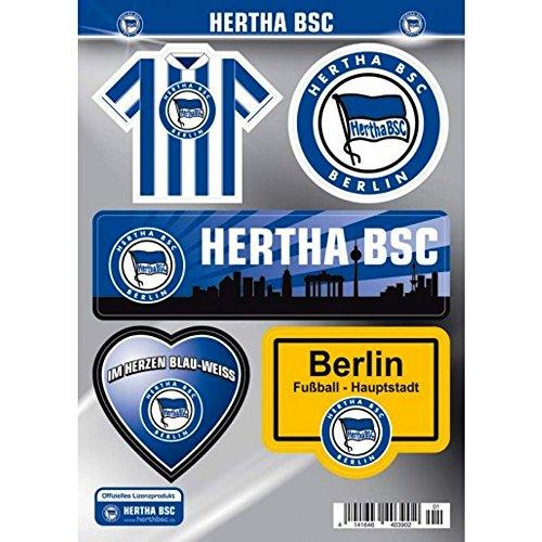 Hertha BSC Berlin Autoaufkleber - Sticker - Aufkleber Set 5 Stück