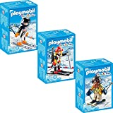 PLAYMOBIL® Family Fun 3er Set 9284 9287 9288 Skifahrer