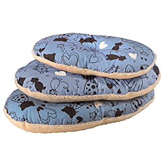 Cosipet Scatty Cat Basket Liner, 15-inch/ 38 cm, Blue 7