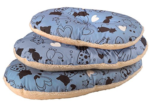 Cosipet Scatty Cat Basket Liner, 15-inch/ 38 cm, Blue 1