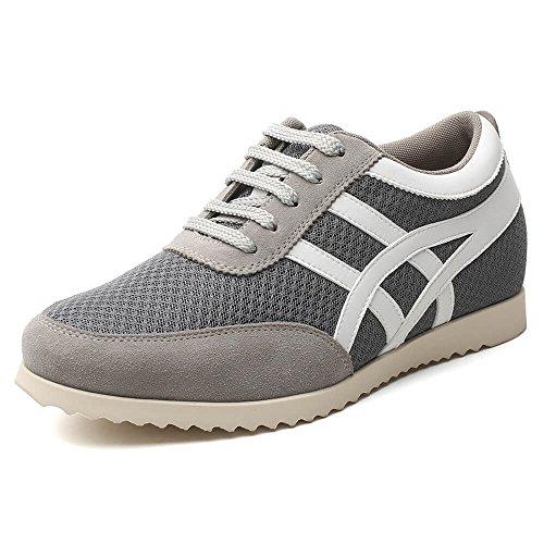 CHAMARIPA Elevator Schuhe Leichte. Höhenvergrößernde Sneaker für Männer. Die Größer Aussehen Als 5 cm/2.16 Zoll-L227B08 (Schuhe Cross-trainer Beste)