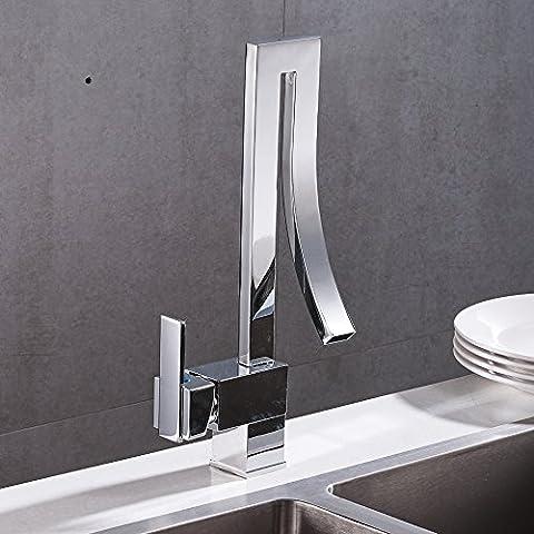 Velimax Brass Material Unique Kitchen Sink Taps Single Handle Lever