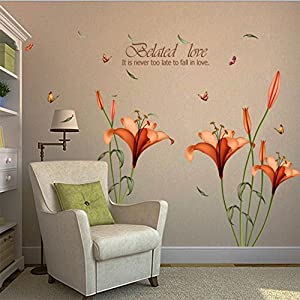 ❤ DFVVRHome Decor ❤ Flower Wall Stickers Removable Decal Home Decor DIY Art Decoration Pink