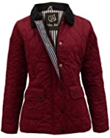 THE AMBER ORCHID NEW LADIES QUILTED PADDED BUTTON ZIP JACKET WOMENS COAT TOP PLUS SIZES 8 10 12 14 16 18 20