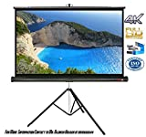 Elcor Tripod Projector screens 84 Inch-Diagonal,4ft.height x 6ft.width In 4:03 Aspect Ratio Support