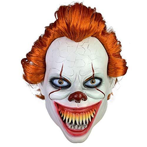 Zombie Clown Kostüm Unheimlich - QIAO Unheimlich Clown Maske Cosplay Halloween Kapuze unheimlich Maske