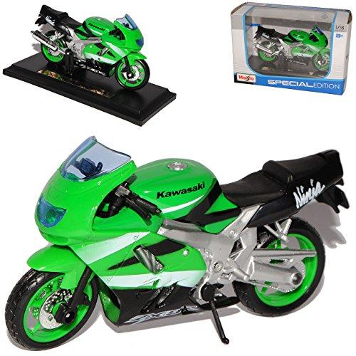 Kawasaki Ninja Zx-9r Zx-9 R GrÜn Mit Sockel 1/18 Maisto Modellmotorrad Modell Motorrad -