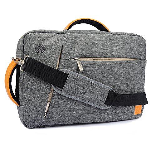 Vangoddy Unisex 43,2cm Nylon Hybrid Laptop-Umhängetasche Rucksack Aktentasche für HP Envy/Omen/Pavilion/ProBook/ZBook Serie 43,9cm Laptop Grau Grau 17 inch