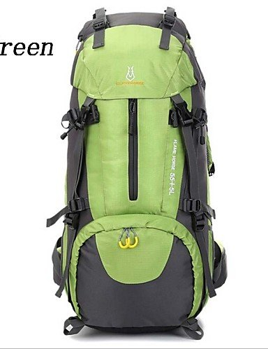 HWB/ 60L L Rucksack Camping & Wandern / Reisen Outdoor Wasserdicht / Wasserdichter Verschluß / tragbar / AtmungsaktivGrün / Rot / Schwarz / Orange