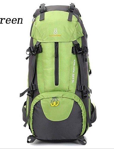 ZQ 60L L Rucksack Camping & Wandern / Reisen Outdoor Wasserdicht / Wasserdichter Verschluß / tragbar / AtmungsaktivGrün / Rot / Schwarz / navy blue
