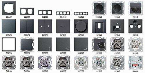 Preisvergleich Produktbild GIRA E2 System 55 Anthrazit, Schalter & Steckdosen- Set Auswahl