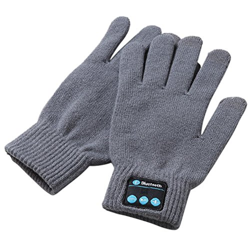 Skitic Hi-call Unisex Wireless Bluetooth Warmer Knit Handschuhe Mittens Touchscreen Handy-Headset Lautsprecher und Hands-free Mikrofon Call...