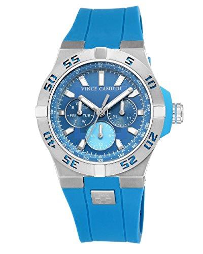 Vince Camuto - VC/1010BLSV - Montre Mixte - Quartz - Analogique - Bracelet Silicone bleu