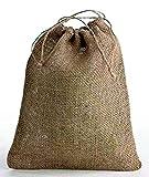 Jute/Hessian Drawstring Bags, Choice of size (40cm x 50cm)