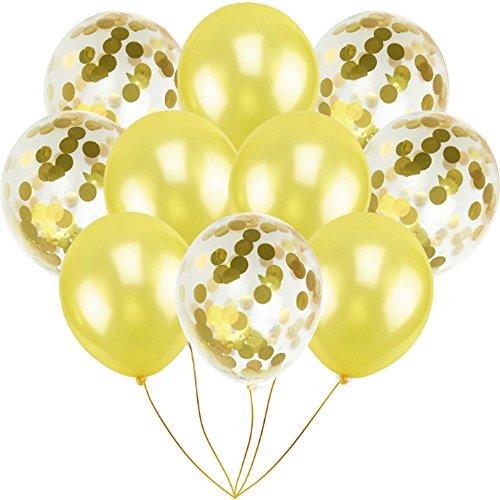 Zoll Gold Konfetti Ballon Premium Latex Glitter Ballons für Hochzeit und Geburtstag Party Dekorationen,Graduierung,Vorschlag, Hochzeiten, Geburtstage, Valentinstag ()