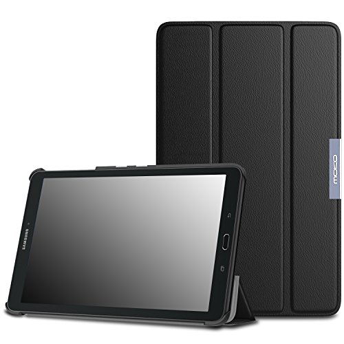 Tab Samsung Galaxy Wifi 4g (MoKo Tab E 9.6 Hülle - Ultra Slim Lightweight Schutzhülle Smart Cover mit Standfunktion für Samsung Galaxy Tab E 9.6 Zoll (Wifi/4G LTE Version) 2015 Tablet-PC, Schwarz)