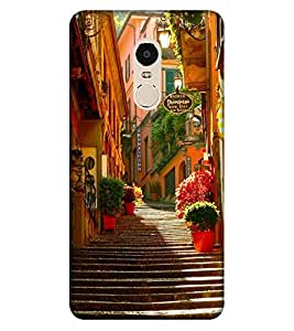 Takkloo staires view colourful plants,lovely houses, beautiful picture of staires view) Printed Designer Back Case Cover for Xiaomi Redmi Note 4 (2017 Edition)