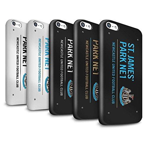 Offiziell Newcastle United FC Hülle / Glanz Snap-On Case für Apple iPhone 5C / Pack 6pcs Muster / St James Park Zeichen Kollektion Pack 6pcs