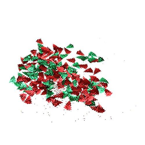 PETSOLA Weihnachtsbaum Ren Santa Claus Table Confetti Balloons Christmas Ornaments - Rot grün, 18 x 23mm -