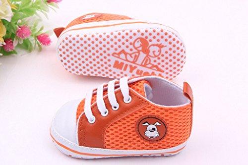 Lukis Baby Lauflernschuhe Sneaker Canvas Sports Schuhe Babyschuhe Orange