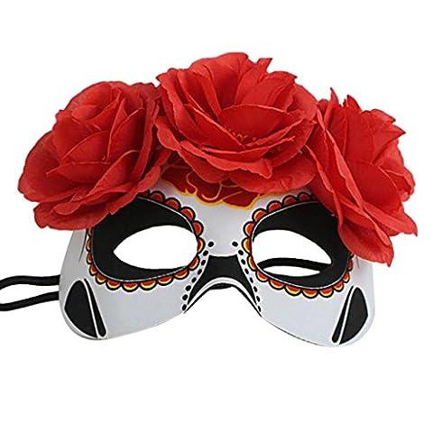 Venetian & Gem - Femmes Costume Halloween Venetian Fleur Masque Yeux