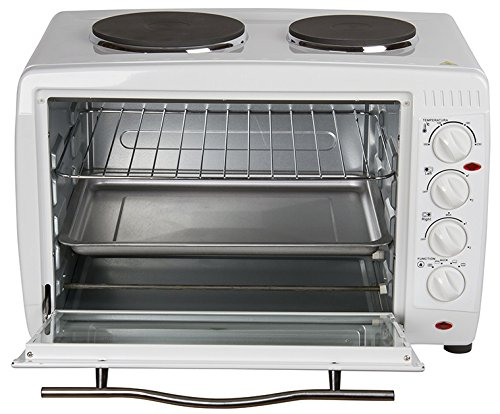 Igenix IG7145 Mini Oven and Grill with Double Hotplates - 45 L