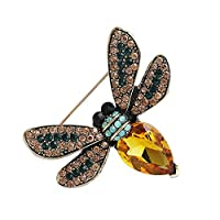 Skyeye Crystal Bee Brooch Pin,Colorful & Sparkly Broaches,Great Xmas Stocking Fillers & Table Gifts for Women Girls