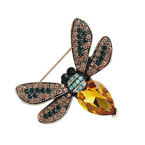 Demarkt Bienen Brooch Brosche Nadel Anstecker Anstecknadeln Geschenk Schmuck für Damen Gelb 4.5*4cm