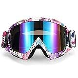 Hifuture casco occhiali ciclismo occhiali da moto ad alta definizione Lenti antigraffio vento Dust Eye Outdoor equitazione di sicurezza occhiali, 01