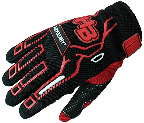 Heyberry Motocross MTB MX Handschuhe schwarz rot Gr. L