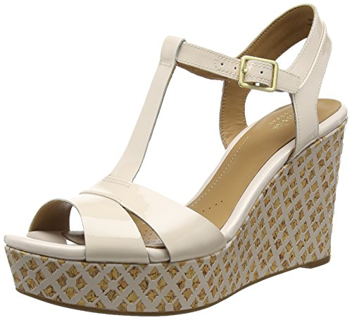 Clarks Amelia Roma, Sandales  Bout ouvert femme Rose (Nude Pink)