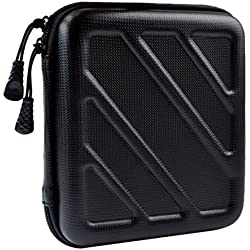 Taslar™ Hard Shockproof Portable EVA Storage Cases Covers Travel Bag for Power Bank/External Hard Drive/HDD/Electronics/Accessories Chargers/ USB Data Cables /External Battery Carrying Bags with Mesh Pocket,(Black)