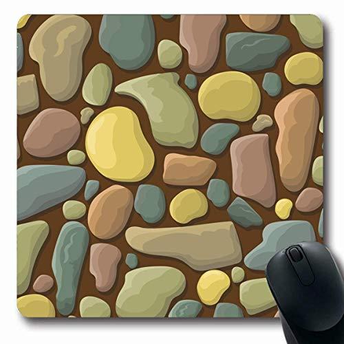 Luancrop Mousepads Fliesen-Brown-Wand-lustige Stein-abstrakte graue Block-Ziegelstein-Maurerarbeit-Entwurfs-Muster-rutschfeste Spiel-Mausunterlage Gummilangmatte -