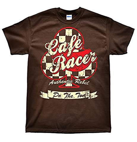 Cafe Racer Club Chocolat T-Shirt, Taille