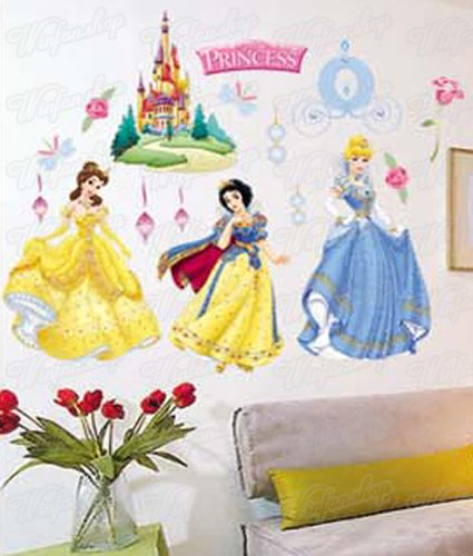 ttoo Wandsticker Disney Princess Kind Kinderzimmer WAG-035 (Disney Princess Vor Und Nach)