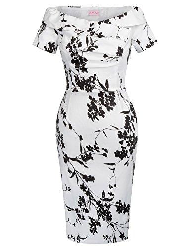 etuikleid knielang stretch kleid bleistiftkleid partykleider cocktailkleid Größe 34 BP117-8
