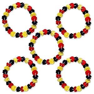 5x Hawaiikette Blumenkette WM Artikel 2014 Fanset Fanartikel Fanpaket Deutschland