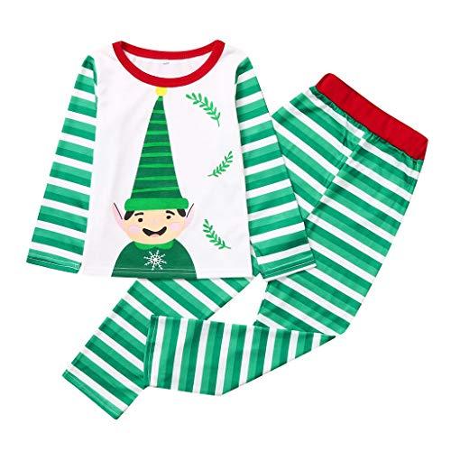 Wawer Pyjama Pamilie Set, Mama & Papa & Baby & Kinder Nachtwäsche Weihnachten Zweiteiliger Schlafanzug Langarm Pyjama Set Xmas Sleepwear