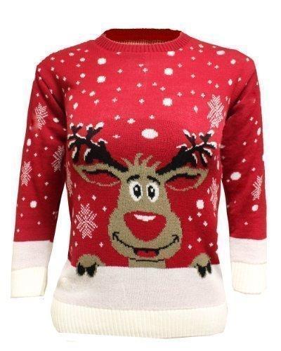 più recente 68616 c590c Generazione Fashion Unisex bambino bambina edbsf pull over maglione  natalizio con fiocchi di neve Olaf da corsa animali Top dimensioni