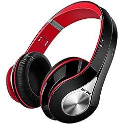 Mpow 059 Auriculares Diadema, Cascos Bluetooth Inalambricos Plegable con Micrófono, 20 hrs Reproducción de Música, Hi-Fi Sonido Estéreo, Ligero, Manos Libres, PC, Móviles