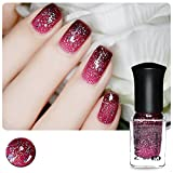 Born Pretty 1 Flasche 6 ml Thermal Nagellack Farbe verändert Polish Peel Off Polnisch Rose Rot bis Dunkelrot