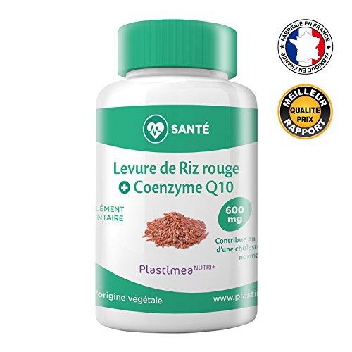 !! LEVURE DE RIZ ROUGE + CoQ10 !! Fabriqué en France * 3 mois de cure * 600 mg * !! EVITEZ LES DESAGREMENTS DE LA LEVURE DE RIZ ROUGE SEULE !! 90 gélules gastro-résistantes d'origine végétale