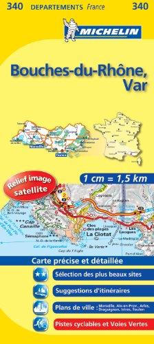 BOUCHES - DU - RHONE / VAR 11340 CARTE ' LOCAL ' ( France ) MICHELIN KAART (KAARTEN/CARTES MICHELIN)
