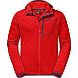 Jack Wolfskin Mens Skyland Hooded Breathable Stretch Fleece Jacket