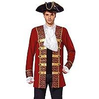 Bristol Novelty AF009 Pirate Coat, Red, 42 - 44-IncH
